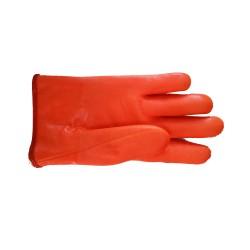 Gants Etanches Orange Fourrés PVC enduit haute résistance